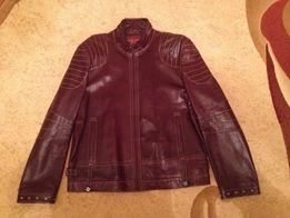 Новая мужская кожаная куртка First Sunly 52 размер