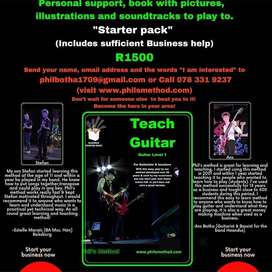 Small business Opportunity. Guitar school starterpack option to build.