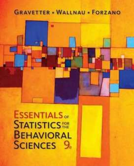 Essentials of Statistics for The Behavioral Sciences-9th edition