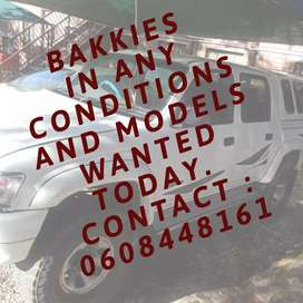 Used bakkies wanted in any condition and model.