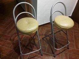 Krzesła barowe metalowe 2 sztuki / stan dobry / stabilne