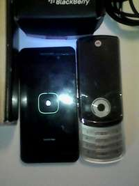 Image of Blackberry z10 and LG phone