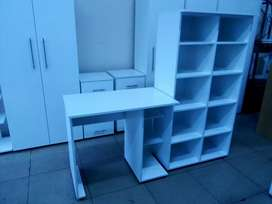 Office Furniture ( 3 Drawers Pedestals, Cube storage and) Desk)