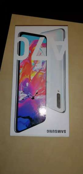 Samsung A70 crystal white for sale, sealed in box