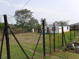 4 roomed house fenced