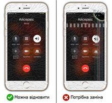 Заміна скла, дисплея iPhone 5, 5S, 5C, 6, 6 Plus, 6S, 6S, 7, 8, iPad