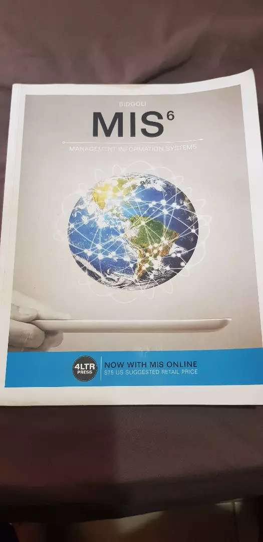 MIS6 - Management Information Systems | Paperback Book, 6th edition 0