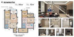4 комнатная квартира в ЖК Ренессанс