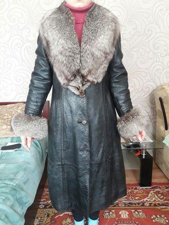 Пальто. Зима-осень. Кожа. Подстёжка-кролик Запорожье - изображение 1
