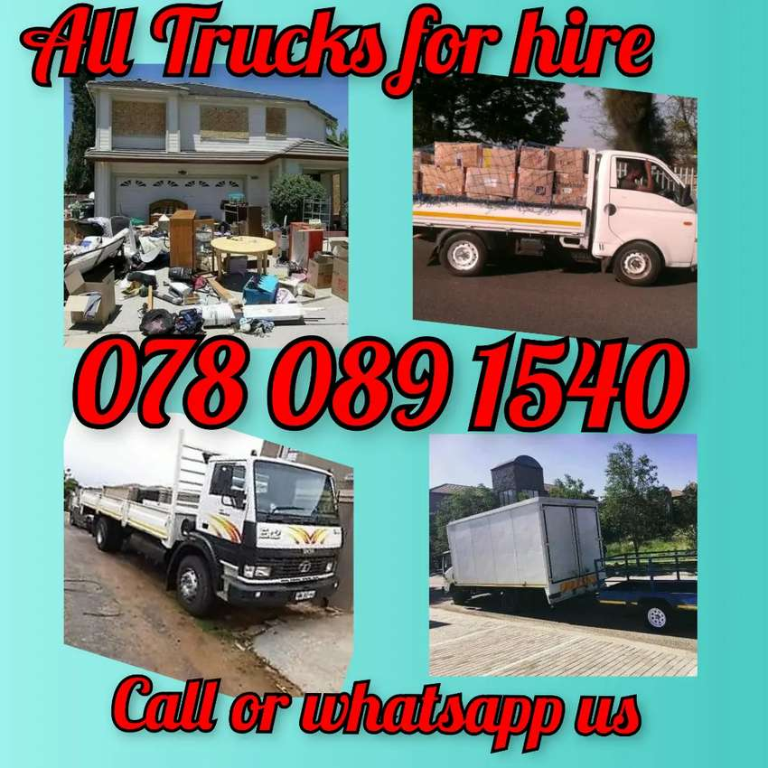ALL TRUCKS AND BAKKIE FOR HIRE AVAILABLE