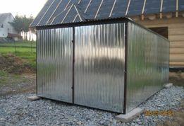 Garaż blaszany Blaszak budowa GARAŻE blaszane ocynkowane 3x5 na BUDOWĘ