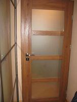 Drzwi ERKADO wewnętrzne 80cm prawe NOWE dąb JUKA 4 OKAZJA przeszklone