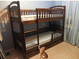 Двухъярусная кровать Каринчик с дерева ( эргономичным дизайном )