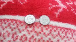 Dwie monety 5 zł 1989r