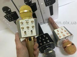 КЛАССНЫЕ Аккумуляторный Bluetooth караоке микрофон WSTER мікрофон