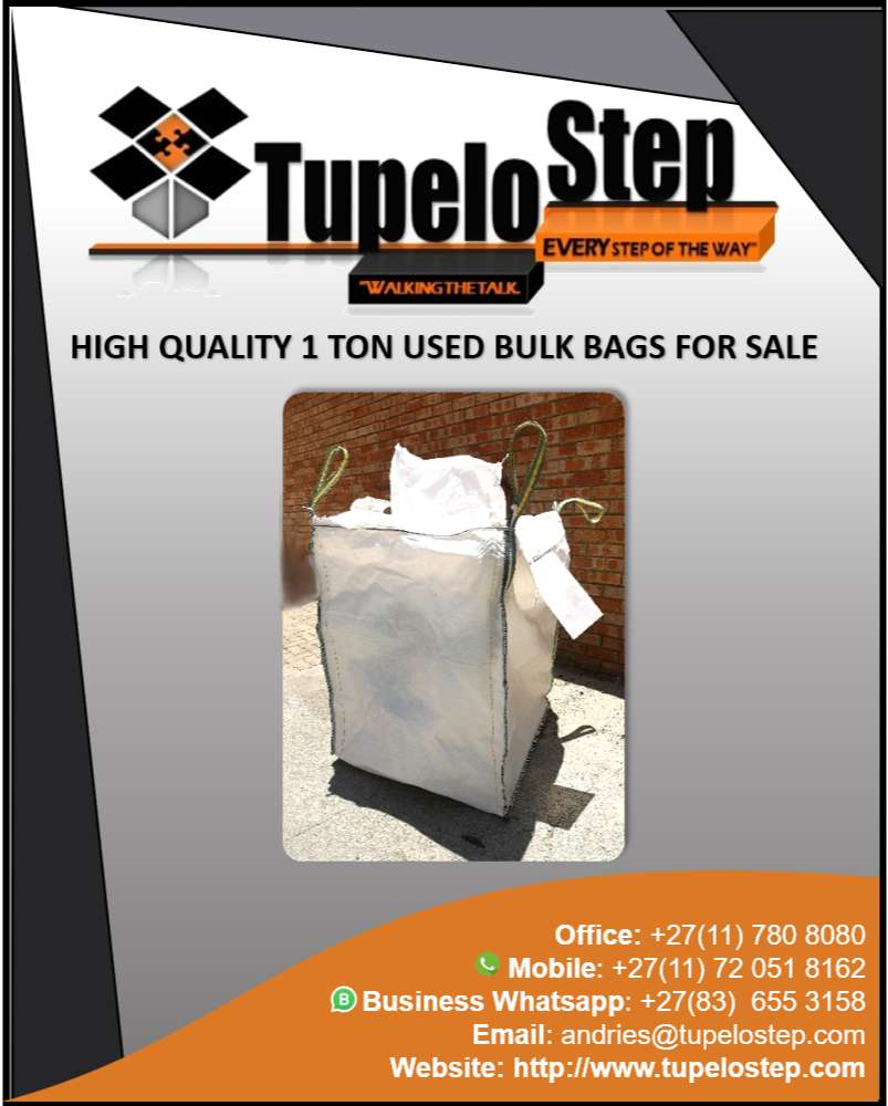 1 Ton bulk bags wholesale, new and used for sale