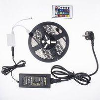 Комплект LED лента RGB 5050 5 метров, многоцветная, ip65, влагозащита