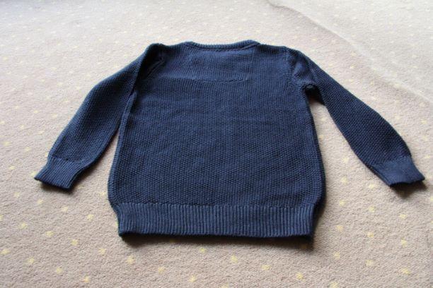 Nowy klasyczny granatowy sweterek r.92 Reserved Warszawa - image 3