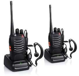 2Pces Walkie Talkies UHF Band Two Way Professional Radios Transceivers