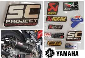 Yamaha SC Projects aluminium heat proof exhaust silencer decals badges