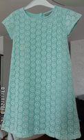 Piękna sukienka, r. 116, JBC oryginalna z Belgii, kolor miętowy
