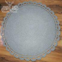 szydełkowy dywan 160cm handmade