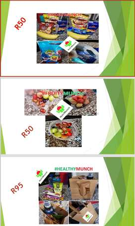 NutriMunch Snack packages and party packs