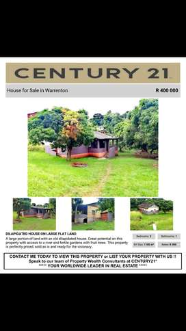 Urgent sale. Land and house