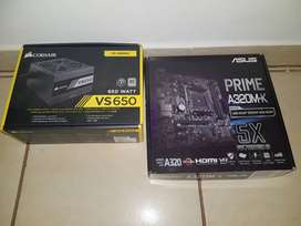 Gaming motherboard Asus prime A320M-k and 650W PSU
