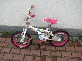 """Rower rowerek 16"""" biało różowy"""