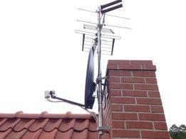 Montaż, ustawianie anteny satelitarnej, naziemnej DVB-T, Szczytno