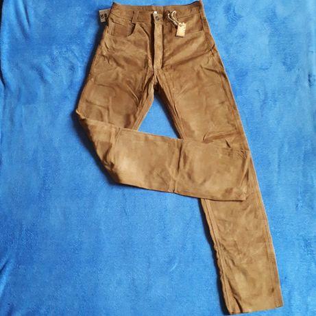 Nowe skórzane spodnie pięknie wyprawione piękny kolor rozmiar 30 Rzeszów - image 2