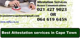 Attestation services in Muizenberg.