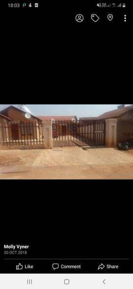 2 bedroom house available immediately for rental