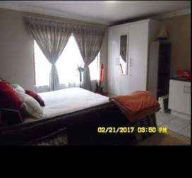 Double bed, TV,