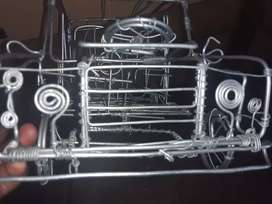 A wire toy car for sale