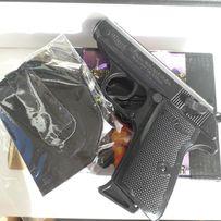 Черный металлический Пистолет зажигалка В кобуре.Сувенир подарок