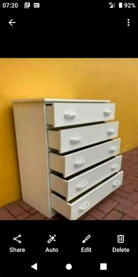Brandnew white melamine chest of drawers sold at lowest prices