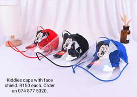 Kiddies Cap Woth Face Shield