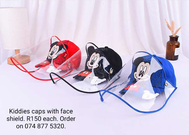 Kiddies Cap Woth Face Shield 0