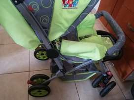 Pram. Car seat. Rocking chair. Toddler feeding chair