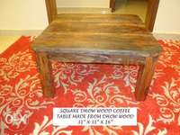 Dhow Wood Square Coffee Table 0