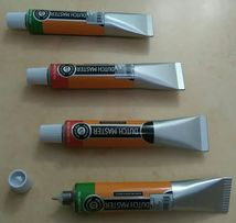 NOWY Długopis Czerwony lub Zielony Kształt Tubka Farby Dutch Master
