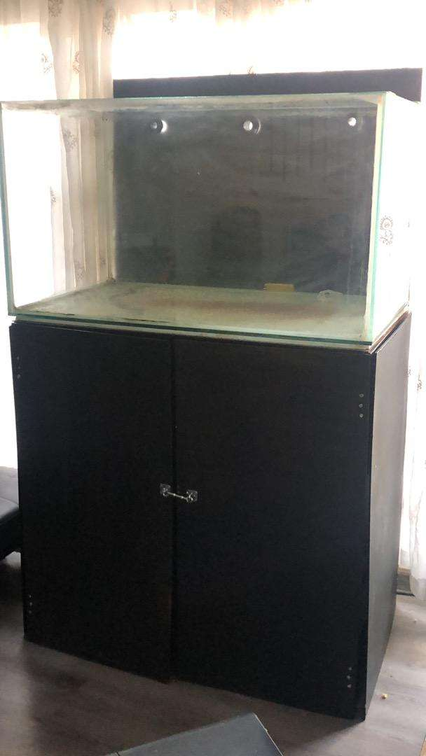 Huge fishtank with cabinet
