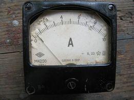 Амперметр М4200 и вольтметр М358 выпуска СССР
