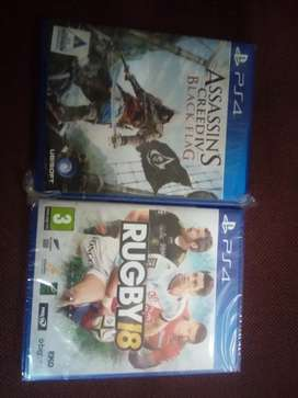 PS4 assassin's Creed iv+Rugby 18
