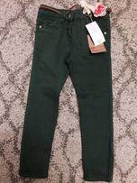 Spodnie skinny fit z paskiem r.110 kwiaty Next NOWE