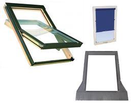 ROLETA GRATIS Okna dachowe OPTILIGHT (gr. FAKRO ) 78x140 cm + Kołnierz