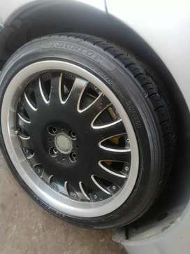17inch 4x100 rims and tyres for sale or swop