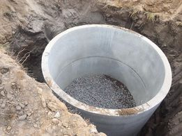 Септик-канализация, выгребная яма,монтаж, жбк колец,копка ям траншей
